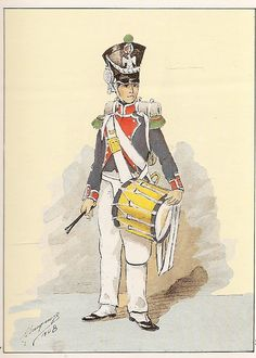 French; 7th Light Infantry, Drummer(possibly of Chasseurs), 1809