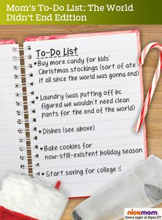 Mom's To-Do List: The World Didn't End Edition   More LOLs & Funny Stuff for Moms   NickMom
