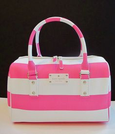NEW NWT Authentic Kate Spade HIGH FALLS MELINDA Kaleigh Gulabi Stripe Purse Bag