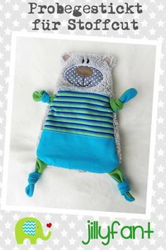 Embroidery Files, Embroidery Patterns, Machine Embroidery, Tag Blanket, Cute Stitch, Baby Sewing Projects, Pacifier Holder, Bear Doll, Sewing Toys