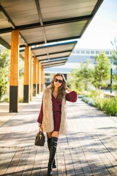 Lace and Locks   Winter Romper. Faux Fur Vest. iMyne Fashion: Forever 21 Appreciation