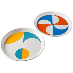 Gio Ponti. The best. KAGADATO selection. **************************************Pair of Plates by Gio Ponti | From a unique collection of antique and modern dinner plates at http://www.1stdibs.com/furniture/dining-entertaining/dinner-plates/