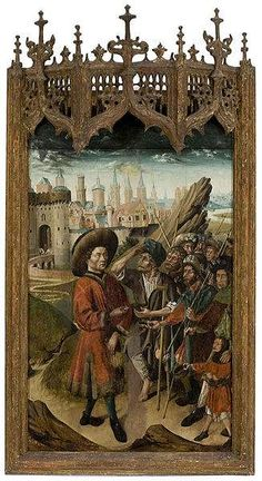 St. Giles of Santarém giving to the poor.