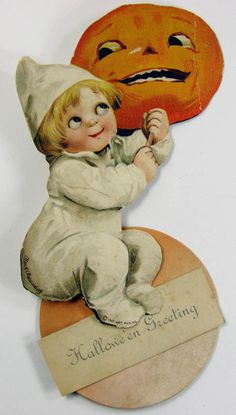 Antique Ellen Clapsaddle diecut Halloween greeting card on eBay this week.