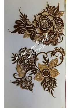 25 Ideas tattoo flower rose artists for 2019 Arabic Henna Designs, Indian Mehndi Designs, Unique Mehndi Designs, Beautiful Mehndi Design, Bridal Mehndi Designs, Henna Tattoo Designs, Mehandi Designs, Khafif Mehndi Design, Mehndi Design Pictures