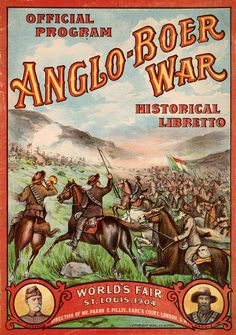 The Anglo-Boer War: Boer- in Dutch- means farmer. This is the war in which the Afrikaners in Transvaal region (South Africa) were against the British from conquering the land for diamond and gold in SIRKUSBOERE deur Sonja Loots West Africa, South Africa, St Louis, Colonial, Louisiana Purchase, 12 Image, World's Fair, Military History, Military Photos