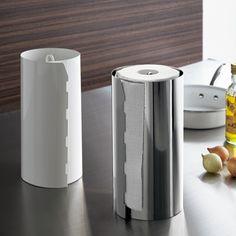 キッチンペーパーホルダー 通販 - ディノス ステンレス&ホワイト キッチンペーパーホルダー 1個