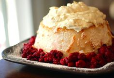 Angel Food Cake with Pineapple Whip from favfamilyrecipes.com #cake #pineapple #dessert #recipes