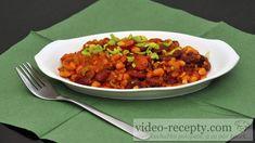 Kovbojské fazole s uzeninou - Výtečný recept na rychlé jídlo, který chutná skoro všem. Chana Masala, Ethnic Recipes, Food, Eten, Meals, Diet