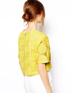 lace shirt with zipper