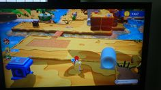[MR:KB] issue where there's no way down from this platform plus my rabbid luigi got stuck on the other side