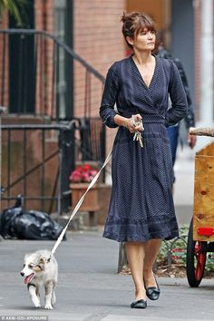 Puppy love! Helena Christensen continued to bond with her adorable puppy Kuma during a leisurely stroll through New York City on Thursday
