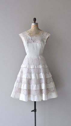 1950's Lace Tiered Dress