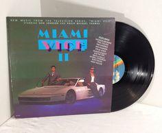 Miami Vice II Television Soundtrack vintage vinyl record LP album 80's || OOP