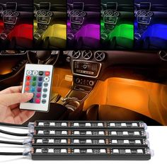 Car Lights Dynamic Wholesale Car Styling Car Accessories Led For Charge Interior Rgb Light Accessories Foot Decorative Universal Cars Dropshipping Car Light Assembly