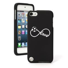 Amazon.com : Apple iPod Touch 5th Generation Black Rubber Hard Case Snap on 2 Piece BH682 Infinity Infinite Love for Soccer : MP3 Players & Accessories