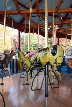 Even the creepy-crawlies are well represented on the National Zoo's animal themed carousel.