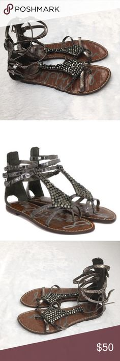 083a3827fc7 Like New Sam Edelman Ginger Gladiator Sandals Like New Sam Edelman Ginger  Gladiator Sandals