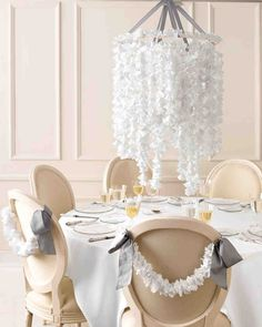 Give your decorations the romantic look of lace by using doilies. Browse through our gallery to find interesting ways to incorporate this delicate detail into your wedding.