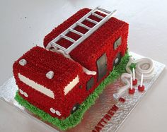 Fire Truck Cake! Perfect for my Fiance!