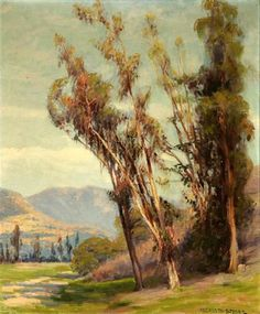 Eucalyptus In A California Landscape Western Landscape, Master Art, Strong, California, Painters, Gallery, Landscapes, Paisajes, Scenery