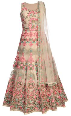 Indian Gowns, Indian Attire, Indian Outfits, Party Wear Dresses, Dress Outfits, Fashion Dresses, Long Gown Dress, Anarkali Dress, Pink Olive