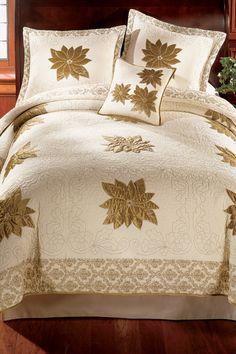 "Biltmore Traditions ""Poinsettia"" Quilt @ belk.com #belk #bedding #holidays"