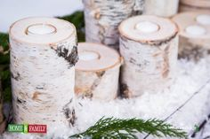 @Home and Family #Wood #Candles #Birchwood #TeaLights by @Lilyshop with Jessie Jane #Countdowntochristmas #HallmarkChannel