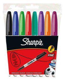Sharpie, Marker permanentny, 8 kolorów