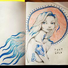 Sketchbook page… Dig Pony Gold