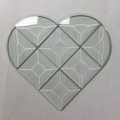 This Quilted Heart Bevel Cluster will be perfect. Full size pattern not available.