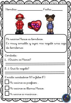 Textos cortos. Lecturas comprensivas - Imagenes Educativas Spanish Teacher, Texts, Reading Comprehension