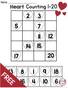 valentines day activities FREEBIE Valentines Day Math Printables - Free Worksheets and Reading Center - students practice ordering numbers - kindergarten and first grade no prep printables and worksheets - common core aligned activities for Valentines Day Kindergarten Freebies, Kindergarten Math Activities, Preschool Math, Math Math, Valentines Day Activities, Free Worksheets, Ordering Numbers, Valentine Heart, Valentine Theme
