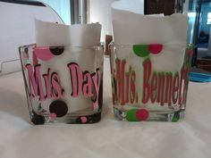 cute teacher candy dishes! Vinyl Project, Nic-Nack Vinyl Creations