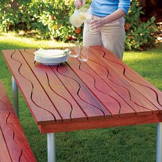 Great Woodworking Project: DIY Picnic Table - Sunset.com