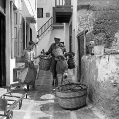 Mykonos island, Photo by Petros Broussalis Benaki Museum Photographic Archives Mykonos Island, Mykonos Greece, Athens Greece, Greece Pictures, Old Pictures, Greece Photography, Vintage Photography, Benaki Museum, Empire Ottoman
