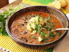 Easy Creamy Chicken Enchilada Soup (It's a FAVORITE in our house)