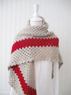 Crochet granny shawl by blueberryfields on Etsy, $55.00