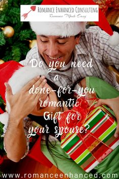 These easy Romantic Christmas Gift ideas for her and him will help you spoil your spouse this Christmas! They are created for you by a Romance Coach at Romance Enhanced Consulting. You can get romantic bedroom kits, classy bedroom games for her and him and you can also get help to come up with romantic date night plans and ideas as well! You will both enjoy these easy and done for you romantic gifts, because they focus on emotional and physical connection! #christmasgifts…
