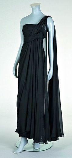 Madame Gres 1960's silk chiffon evening gown.