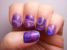 purple water marble... wish i could do this.