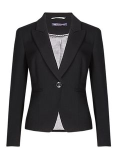 PETITE 1 Button Panelled Jacket with Buttonsafe™ Clothing
