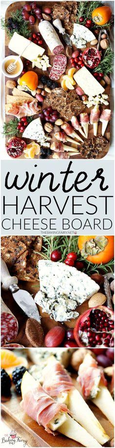 winter harvest cheese board | The Baking Fairy #CheeseBoardChallenge