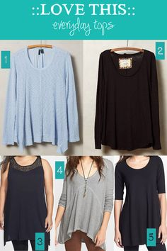 Another peek inside my curvy closet - this time about my current favorite tops.
