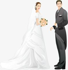 Bride and groom PNG and Clipart Wedding Art, Wedding Images, Wedding Groom, Wedding Couples, Bride Groom, Bride Clipart, Wedding Invatations, Wedding Illustration, Wedding Background