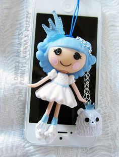 Lalaloopsy Ice Princess Cell IPhone Doll Anti-Dust Plug Charm