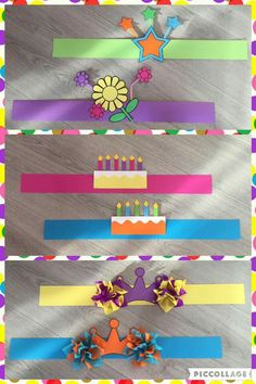 Kronen voor verjaardag Hat Crafts, Diy And Crafts, Crafts For Kids, Paper Crafts, Preschool Birthday, Preschool Crafts, Paper Hat Diy, Diy Birthday Crown, Back To School Gifts