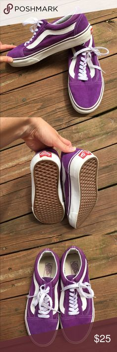 VANS purple Purple Vans Size 8 in women's. Suede-ish material. WORN ONCE. They turned out to be less my style but maybe they'll get some love from you!!  MAKE AN OFFER Vans Shoes Sneakers