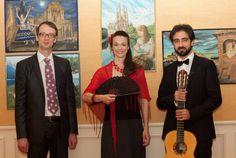 Von links nach rechts: Matthias Wunsch(bildende Kunst), Maja Fluri(Sopran), Giuseppe Chiaramonte(Klassische Gitarre)