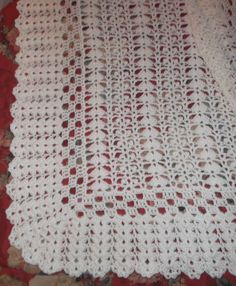 Crochet blanc bébé Afghan bk124